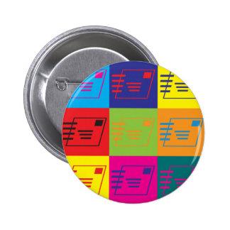 Postal Service Pop Art Pinback Buttons