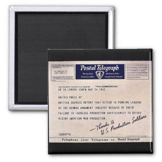 Postal Telegraph Fridge Magnet