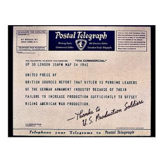 Postal Telegraph Postcards