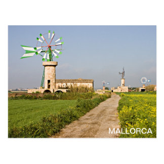 postal wind mill in Majorca Postcard