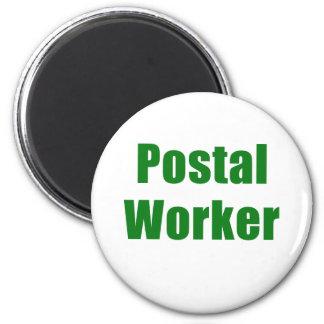 Postal Worker 6 Cm Round Magnet