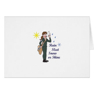 POSTAL WORKER MOTTO GREETING CARD