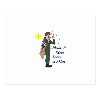 POSTAL WORKER MOTTO POST CARD