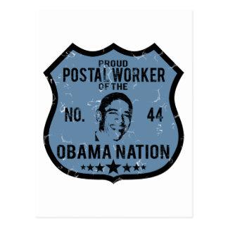 Postal Worker Obama Nation Postcard