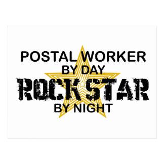 Postal Worker Rock Star by Night Postcard