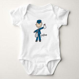 Postal Worker Stick Figure Baby Bodysuit