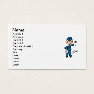 Postal Worker Stick Figure Business Card