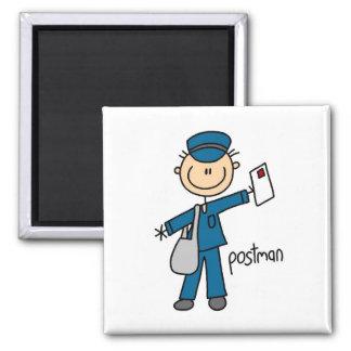 Postal Worker Stick Figure Magnet