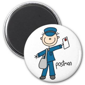 Postal Worker Stick Figure Magnet Magnets