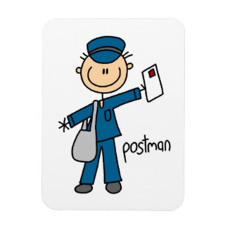 Postal Worker Stick Figure Magnets