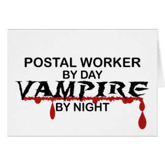 Postal Worker Vampire by Night Cards