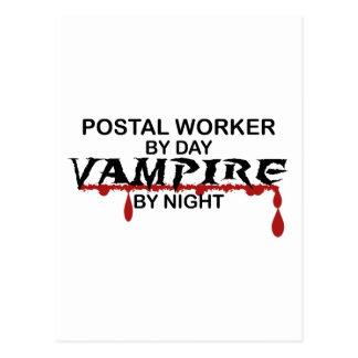 Postal Worker Vampire by Night Postcard