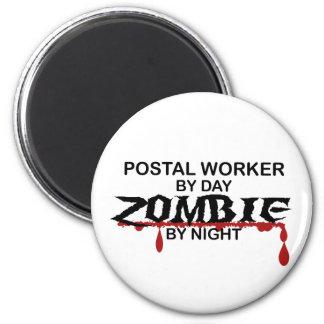 Postal Worker  Zombie 6 Cm Round Magnet