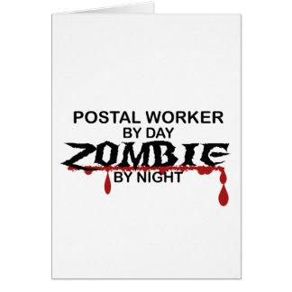 Postal Worker  Zombie Greeting Card