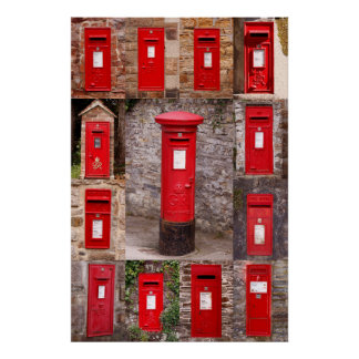 Postboxes of old England (2) Poster