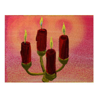 Postcard 4 red candles