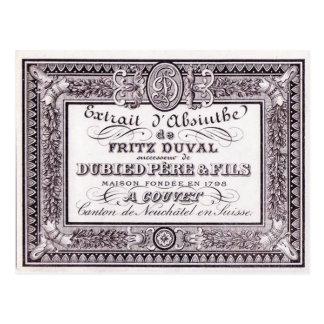 Postcard Absinthe Duval