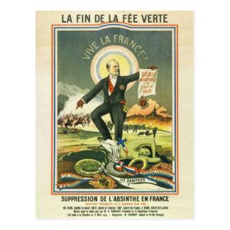 Postcard Absinthe spell France