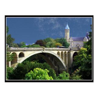 Postcard Adolphe Bridge From Luxemburg City