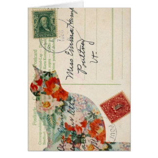 Postcard Back 7 Greeting Card