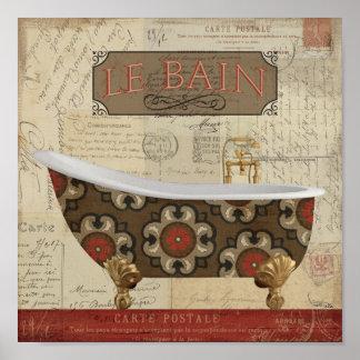 Postcard Bath Poster