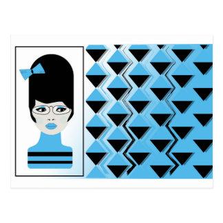 Postcard - BIG HAIR MODERN GIRL