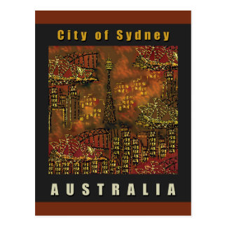 Postcard | Blazing Sunset City | Australia