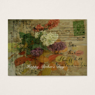 Postcard Blooms Gift Tag Business Card