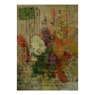 Postcard Blooms Poster