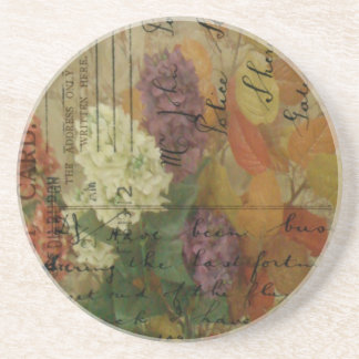 Postcard Blooms Sandstone Coaster