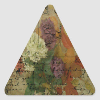 Postcard Blooms Triangle Sticker