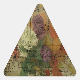 Postcard Blooms Triangle Sticker