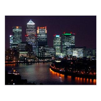 Postcard Canary Wharf, London the U.K.