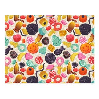 postcard,candy,lollypop,vintage postcard