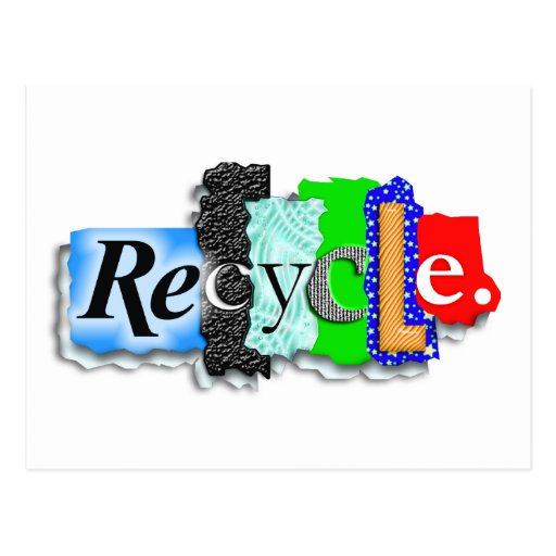 "Postcard: Card: ""RECYCLE"""