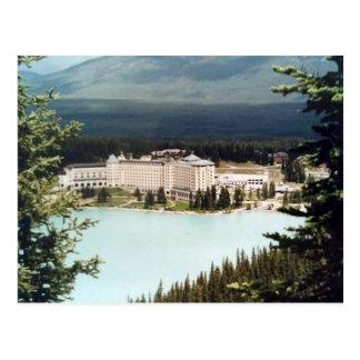 Postcard Castle Lake Louise in Alberta, Canada