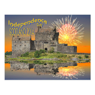 Postcard celebrating Scottish Independence in 2014