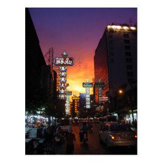 Postcard Chinatown, Bangkok, Thailand