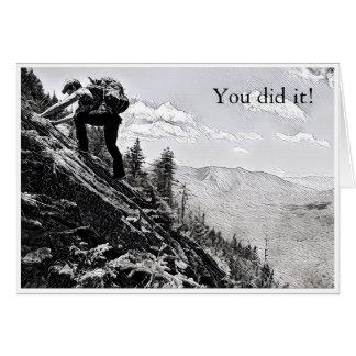 Postcard - Climbing, You did it!