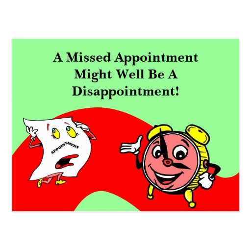 Postcard Clock Appointment Reminder Retro Style