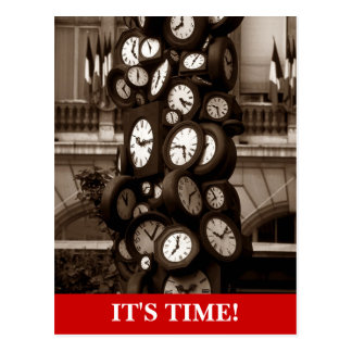 Postcard Clocks Time pieces Appointment Reminder