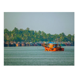 Postcard - Colorful Fishing Trawler, Kerala
