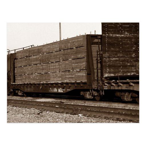 Postcard ~ COTTON BELT RAILROAD TRAIN FLAT CAR