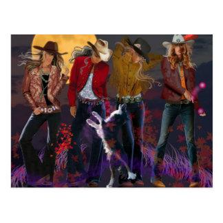 Postcard, cowgirl fantasy postcard