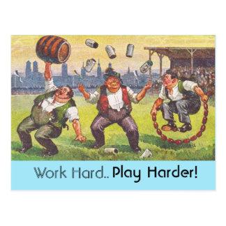 Postcard CRC Happy life = Work Hard.. Play Harder!