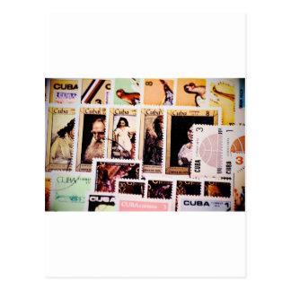 Postcard, Cuba, vintage postage stamps, Postage Postcard