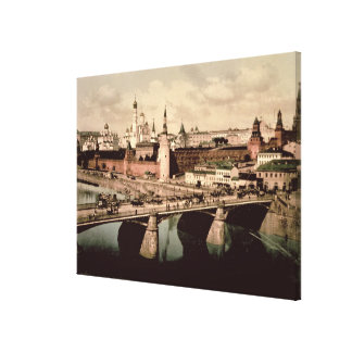 Postcard depicting the Kremlin, Moscow Canvas Print