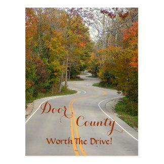 "postcard, ""DOOR COUNTY (WIS.)--WORTH THE DRIVE! Postcard"