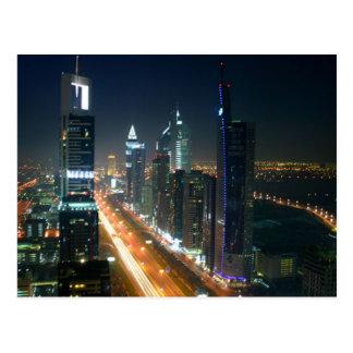 Postcard Dubai Night Skyline, Saudi Arabia