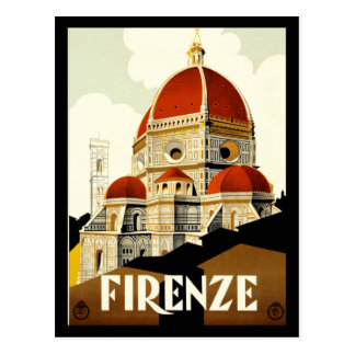 Postcard Firenze Italy Print Greetings